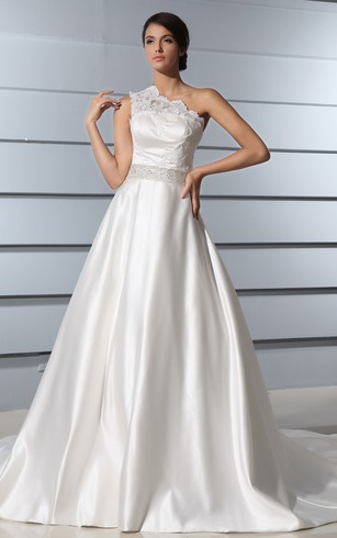 One Shoulder Ball Gown Wedding Dresses | Unique Design - Dorris Wedding