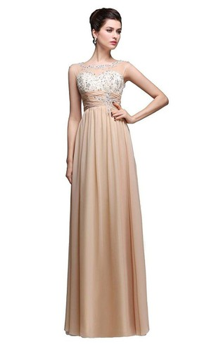 Champagne Color Prom Dress 2018 2018 Champagne Formal Dresses