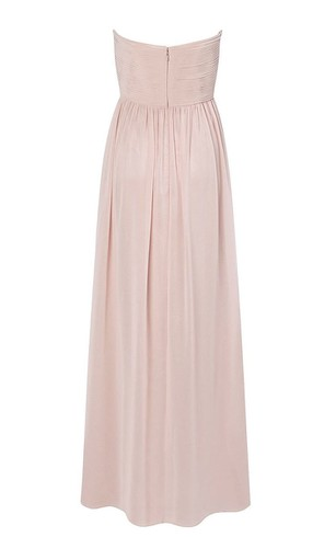 Strapless Sweetheart Criss-cross Chiffon A-line Gown