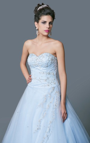 Glamorous Sweetheart Sequined Tulle Ball Gown with Jacket