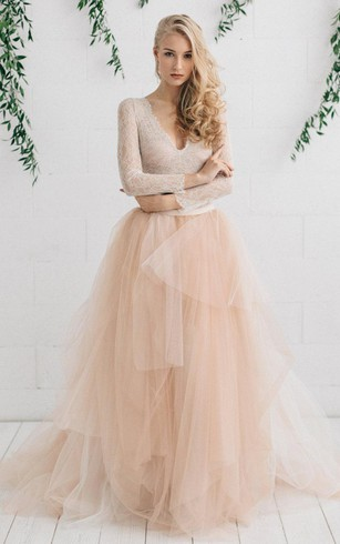 Unique style wedding dress with colour special color bridal dresses tulle satin tiers zipper wedding dress junglespirit Gallery