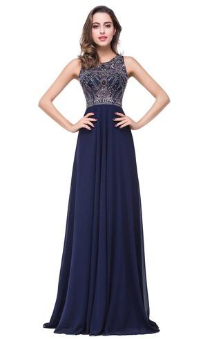 Navy&Dark Blue Prom Dress | Cheap Deep Blue Dresses - Dorris Wedding