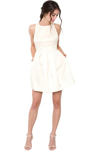 Cheap 8Th Graduation Dresses | Casual White Prom Dress - Dorris Wedding
