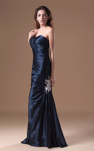 Single-Strap Mermaid Satin Gown With Ruched Bodice
