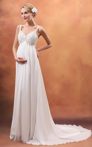 Maternity Bridal Gowns | Pregnant Wedding Dresses - Dorris Wedding
