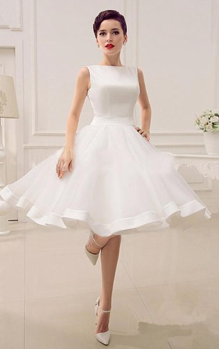 A Line Sweetheart Sleeveless Backless Organza Dress
