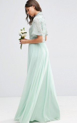 Mint & Pale Green Color formal Dress, Mint Prom Dresses - Dorris Wedding