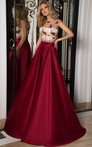 Lace Up Long Prom Dress | Cheap Corset Dresses - Dorris Wedding