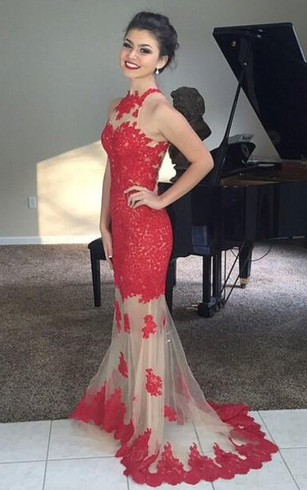 Lace Red Prom Dress Red Party Dresses With Lace Dorris Wedding