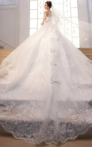 Sleeveless Sweetheart Neck Lace Ball Gown Dress With Beading ...