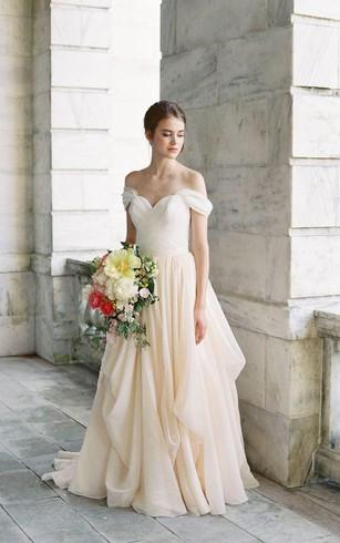 Flowy Beach Wedding Gowns Cheap Chiffon Bridal Dresses Dorris