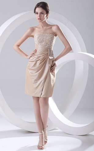 Captivating Taffeta Sleeveless Strapless Midi Special Occasion Dresses