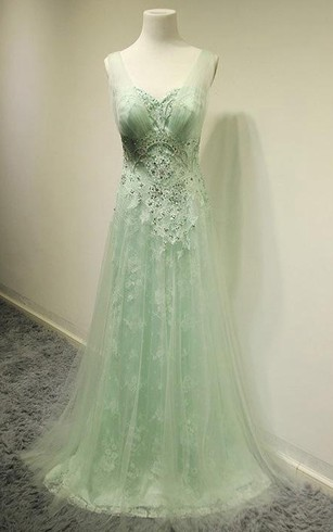 Cheap sage celadon bridesmaids dresses alpha green bridesmaid sleeveless v neck a line pleats lace tulle dress junglespirit Image collections