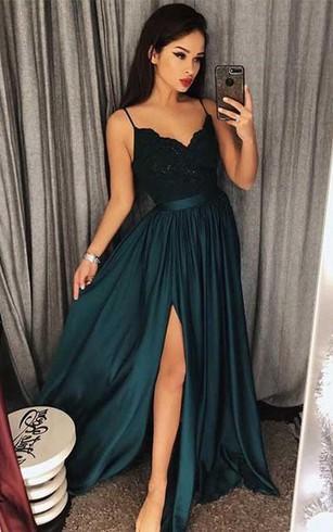 Green Special Occasion Prom Dress | Green Formal Dresses - Dorris ...
