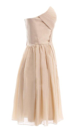 Sweetheart Short Chiffon Dress With Pleats