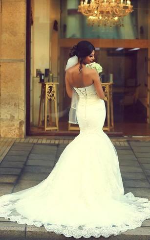 Wedding Dress with Trains, Long Length Trains Bridals Dresses ...