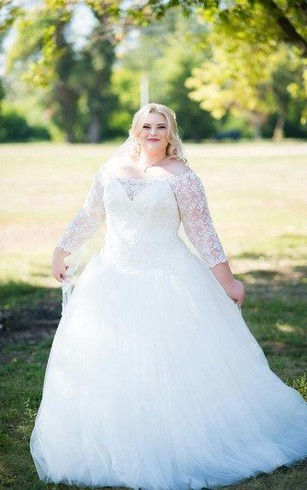 Long sleeve plus size wedding dresses dorris wedding off the shoulder a line long sleeve lace and tulle dress junglespirit Image collections