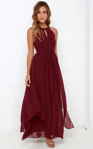 Brilliant Halter Empire Sleeveless Dress
