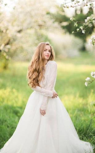 Lace Bridal Dresses | Retro Lace Wedding Gowns - Dorris Wedding