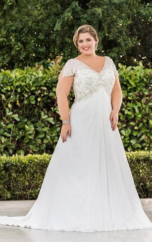 Plus Size Summer Wedding Dresses - Dorris Wedding