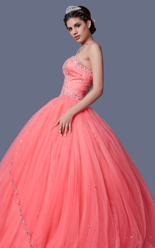 Regal Sequined Sweetheart Layered Tulle Quinceanera Ball Gown