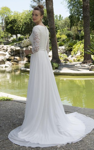 Second Time Marriage Casual Wedding Gown, Casual 2nd Bridal Dresses ...