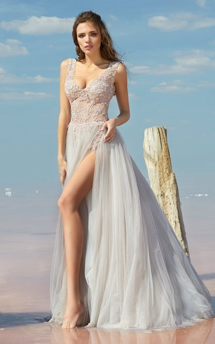 Bohemian Style formal Dress, Boho Prom Dresses - Dorris Wedding