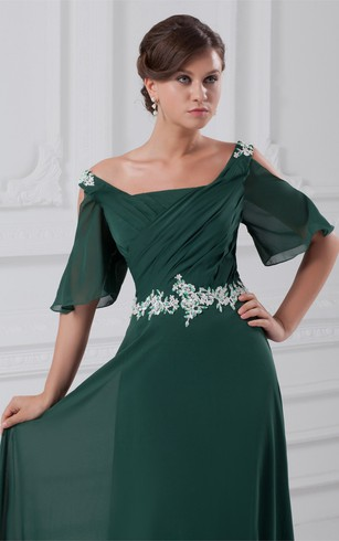Brilliant Sequined Half Length a Line Chiffon Special Occasion Dresses