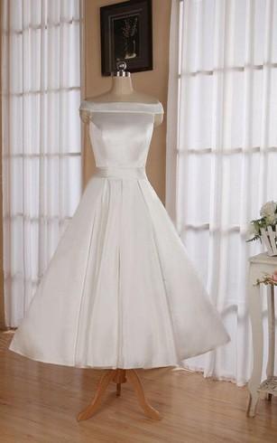 Vintage Tea Length Wedding Dresses | 1950s Wedding Dress - Dorris ...