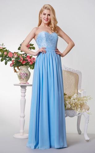 Long Bridesmaids Dresses | Cheap Long Main Of Honor Gowns - Dorris ...