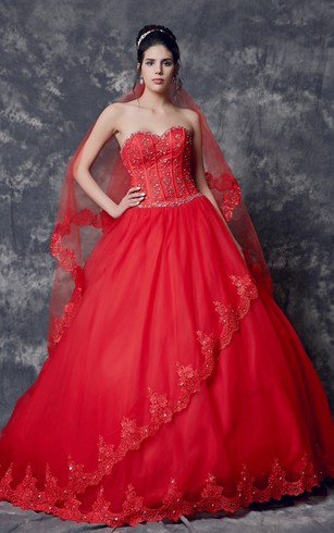 Form Fitting Red Wedding Dresses