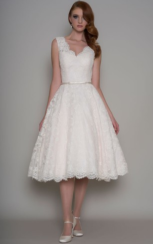 Short Bridal Dresses   Knee Length Simple & Casual Wedding Gowns ...