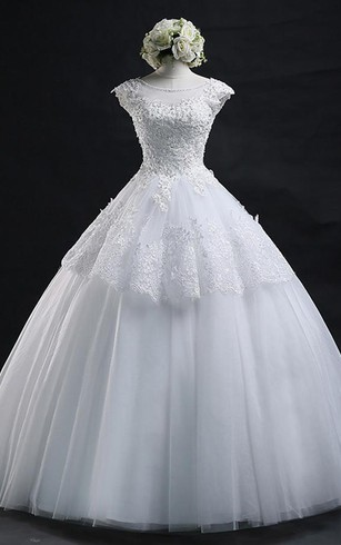 37229394606 Lace-up Lace Tulle Wedding Dress Ball Gown With Appliques ...