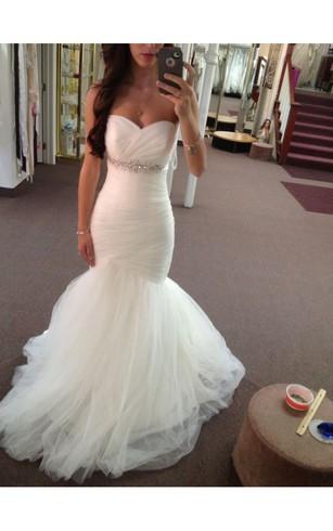 Trumpet Wedding Dress with Sweetheart, Sweetheart Neckline Mermaid ...