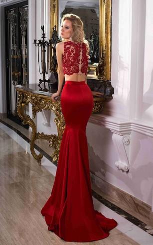 Two Piece Formal Gowns 2 Piece Prom Dress Dorris Wedding