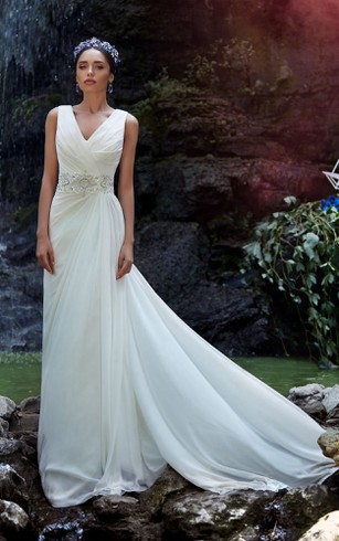 Flowy Beach Wedding Gowns | Cheap Chiffon Bridal Dresses - Dorris ...