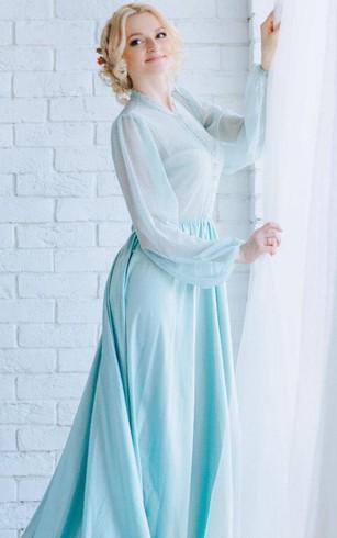 Modest Long Sleeve Bridesmaids Dresses | High Neck Bridesmaid Gowns ...