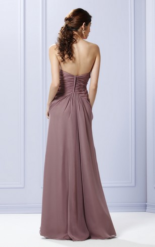 Layered A-Line Strapless Gown With Waist Crystals