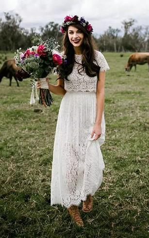 Rustic Bridal Dresses | Barn Wedding Dress - Dorris Wedding