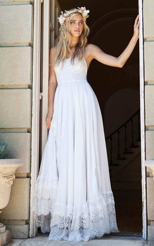Spaghetti Strapped Bridal Dress | Wedding Gowns With Thin Strap ...