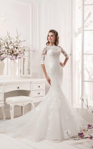 Mermaid Wedding Dresses With Sleeves - Dorris Wedding