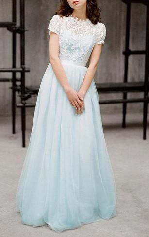Sky & Power Blue Bridesmaids Dresses, Pale Blue Dress for Bridesmaid ...