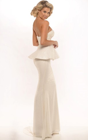 Cheap White Formal Dresses | White Evening Prom Dress - Dorris Wedding