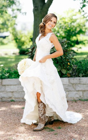 Western Bridal Dresses | Rustic Wedding Dress - Dorris Wedding