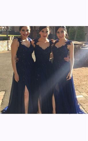 Cheap Navy&Dark Blue Dress For Bridesmaid | Deep Blue Main Of Honor ...