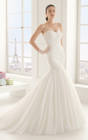 Sweetheart Dress With Appliques And S Rushing