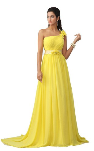 yellow prom dresses on sale
