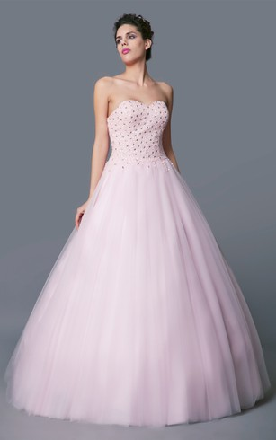 Multicolor-beaded Sweetheart Layered Tulle Quinceanera Ball Gown With Bolero