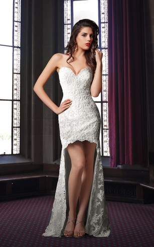 High Low White Dresses