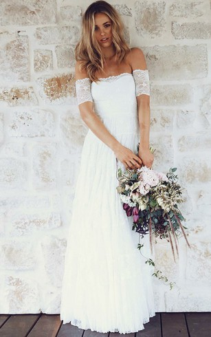 Tall figure brides wedding gowns tall bridal dresses dorris wedding a line off the shoulder short sleeves lace boho wedding dress wedding dresses junglespirit
